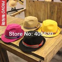 2014 winter NEW fashion wool felt  fedora hats for women, chapeau feminino, panama hat, top hat, free shipping
