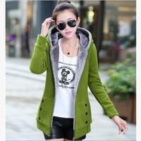 Hot Selling,Women's Occident Girls' Fleece Fur Inner Thick Zipper Hoodie,Plus Size Long Sweatshirt,Size M/l/2XL/3XL,6 Colors