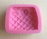 Hot sale  Famous Fashion Beautiful Handbag Silicone Cake Molds Fondant Tools -L391