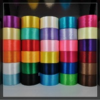 FREE SHIPPING--50 Yards 3.8MM Wide Single Face Satin Ribbon Multicolor wedding DIY Decoration Ribbons (JCO-RB07)
