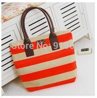 DA275 K color stripe Christmas bag  canvas zipper Shoulder Bag  handbag wholesale drop shipping free shipping