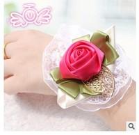 (6 pcs/lot )  High quality wholesale decorative bride wrist flowers gift wedding gift