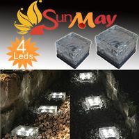10CM Solar driveway passage yard lamps 4LED solar lights Led Solar Stair lightsr outdoor garden lighting
