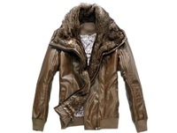 2014 New Men Nagymaros collar and long sections of sheep skin leather leather male fur fur coat