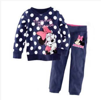 free shipping hot cotton Long sleeve girl's pajamas sets kid's sleepcoat children's pyjamas girls nightgown Cartoon Dot Fashion(China (Mainland))