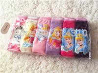 New 2014 Baby Girls Underwear Briefs Snow White Style 5-12Yrs Girls Childrens Underwears Panties Briefs Underwears 6Pcs/Lot