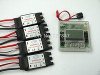 1 PCS KK2.15 LCD Flight Control Board w/case + 4x30A SimonK RC Brushless ESC