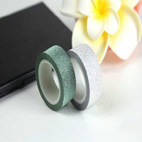 Hot Sale 2Pcs Glitter Washi Sticky Paper Masking Adhesive Tape Label Craft Decorative DIY