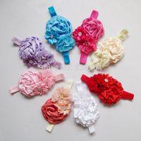 Light Pink Parisian Rose Flower Headband with Silver Sparkle Center Embellishment- Baby Toddler Headband, Little Girl Head