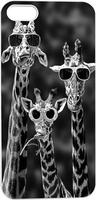 Funny Three Giraffes In Black Glasses Hard Unique Designer Slim case for apple iphone 5 5S 5G