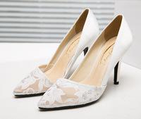 Woman High Heeled Shoes Elegant Pump Lace Pump Fashion Heeled Shoes