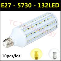 Hot Ultrabright SMD 5730 E27 LED Lamp 35W 132led AC220V-240V Warm White/White Corn Bulb Light For Christmas decoration 10pcs/lot