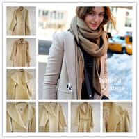 Vintage vintage wool woolen outerwear light color series overcoat brief