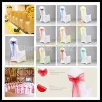 800pcs wedding party hotel chair back flower bow satin chair back yarn decorative ribbon flower wedding decorations