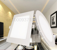 led 15w round and quadrate LED panel light ceiling recessed spot lamp AC85-265V fit for balcony toilet and kitchen