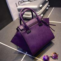 Fashion women's bags 2014 women's nubuck leather wings smiley bag one shoulder handbag