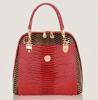 2014 for Crocodile women's fashionable casual handbag fashion trend one shoulder cross-body handbag women's big bag