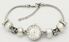 Free shipping Silve Luxury watches suitable for Pandora bracelets, women's fashion jewelry