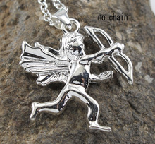 Vintage Cupid Augus Angel 925 Sterling Silver Charms Lovely Pendant For Necklace Jewelry for Valentine s