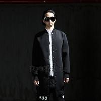 Men's clothing trend byther Men space cotton medium-long jacket outerwear