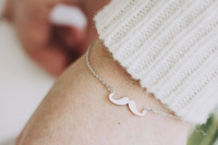 Wholesale Gold Silver Bling Trendy mustache Cuff Bracelets Bangles Jewelry For Women,Free Shipping
