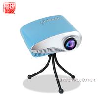 Free Shipping Blue Mini Projector Home Multimedia Cinema LED Projectors HD 1080P Support AV TV VGA USB HDMI SD Phone Projector