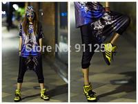 New Women Hip Hop Street Dance Harem Shorts Stylish Tiger Printing Boots Capries Shorts FS3282