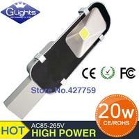 free shipping sale 12V 24V AC85-265V 20W led street light IP65 130-140LM/W LED led street light 2 year warranty