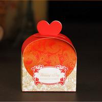 GAGA ! Free shipping red love wedding day paper wedding favor box  200 pcs/lot ,CF30