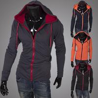 2014 Hot Casual Men's Jacket Baseball Fashion Jackets Hoodies Cardigans Coat Male Outwear Jackets Free Shipping W0900700