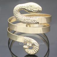 Egypt Snake Serpent Cleopatra Belly Dance Wide Bracelet Bangle Cuff Fancy Dress Jewelry Free Shipping