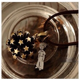 2015 New Free Shipping Fashion Jewelry Vintage The Little Prince Rivet Star Flower Punk Pendant Necklace