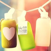 Bkr jelly retinue of glass cup glass bottle multicolour glass bottle silica gel sets