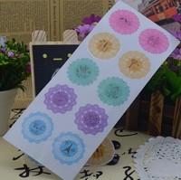 Pudding bottle yogurt bottle label fresh small circle lace decoration stickers diy transparent stickers sealing paste