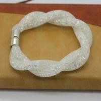 Hot Neutral Classic White Stardust Bracelet And Charm Bracelet Chain Bracelet Crystal Internal Magnetic Bracelet Packing
