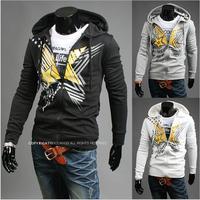 2014 Hot Casual Men's Jacket Baseball Fashion Jackets Print Hoodies Coat Male Outwear Jackets Free Shipping W1100700