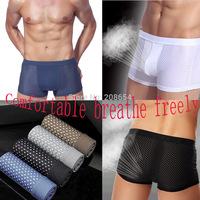 Free Shipping ! 2015 High Quality Sexy Men Underwear Men Boxers Cuecas Boxer 5 Colors Boxer Shorts Men Size  L XL XXL XXXL