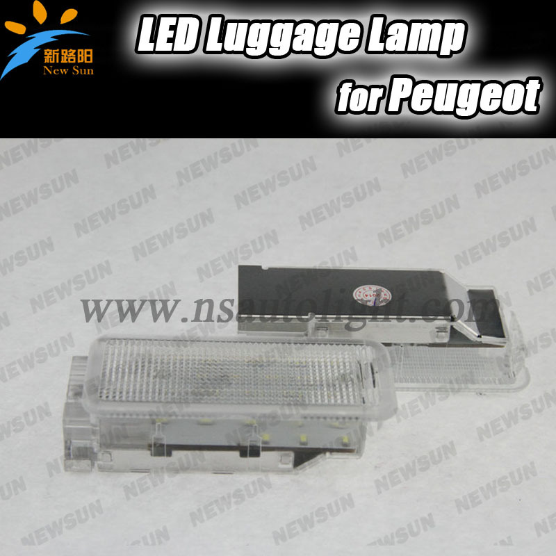 Лампа подсветки багажника Newsun 18SMD Peugeot 1007 406 206 407 206 + 5008 207 607 306 307 806 307 807 308 3008 2pcs for peugeot 106 3d 1007 207 307 308 3008 406 407 508 607 18smd car led license plate light lamp oem replace automotive led