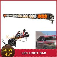 43'' Combo Beam 240W LED Light Bar Amber White ATV SUV 4WD 4X4 Truck Wagon UTE Pick-up Racing Vehicle Auto Offroad Driving Lamp