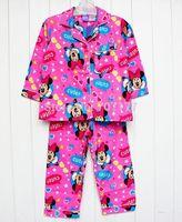 2015 New Arrival Free shipping baby clothing girl girls flannel flannelette winter pink pyjamas pajamas sleepwear Pjs sets