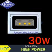 4 PCS Free shipping 30W led downlight ,AC85-265V,3*10W led down light,