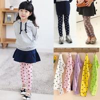 Retail 2014 new arrival girls fashion star printed leggings kids skinny pants 6 colors 018