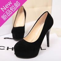 2014 princess sexy round toe platform scrub platform thin heels single shoes high-heeled shoes women's shoes