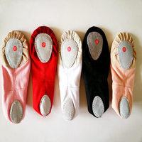 Special Size Convert 22-41 Soft Sole Girls Practice Ballet Shoes Women Ballet Dance Shoes Ladies Flats Shoes Kids Adult LD033