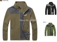 new fashion men winter thick velvet jacket  windproof outwear black green  army green plus size #1108