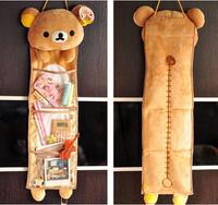 Super cute soft plush Rilakkuma long hanging storage bag toy,Kawaii hanging bag,creative home/family decor gift for girls, 1pc