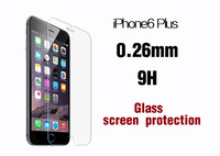 Free shipping Ultrathin Tempered explosion-proof Glass Screen Protector For Iphone 6 plus 0.26mm 2.5d 9h Explosion Proof