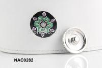 10pcs/lot Newest high quality snowflower cheap snap button fit ginger snap leather bracelet NAC0282