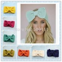 Headband Ear Warmer with Bow Head Warmer Crochet Earmuff Headband for Women 16 colors for choose 1pc WH072