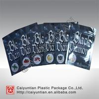 Accept custom printed black diamond herbal incense bag, 1.5g 3g 10g black diamond spice smoking bag